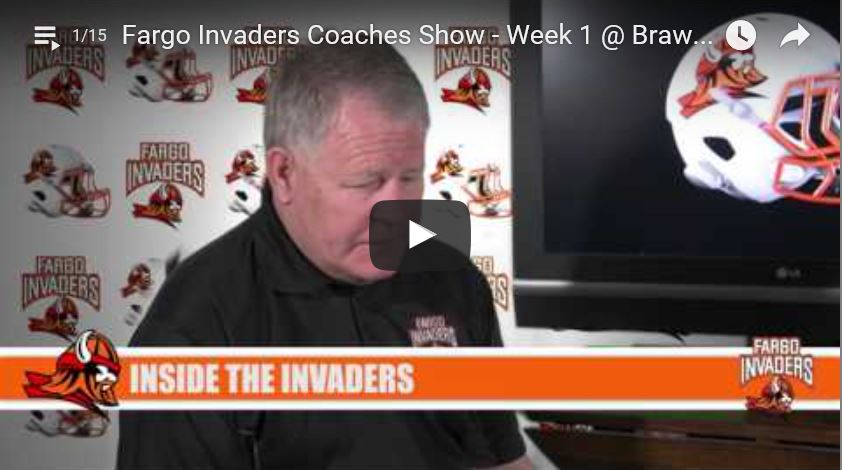 Fargo Invaders Coaches Show – Week 1