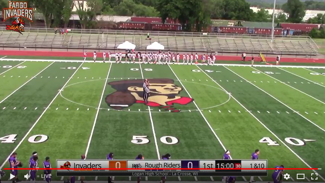 WATCH LIVE – Fargo Invaders @ River City Rough Riders