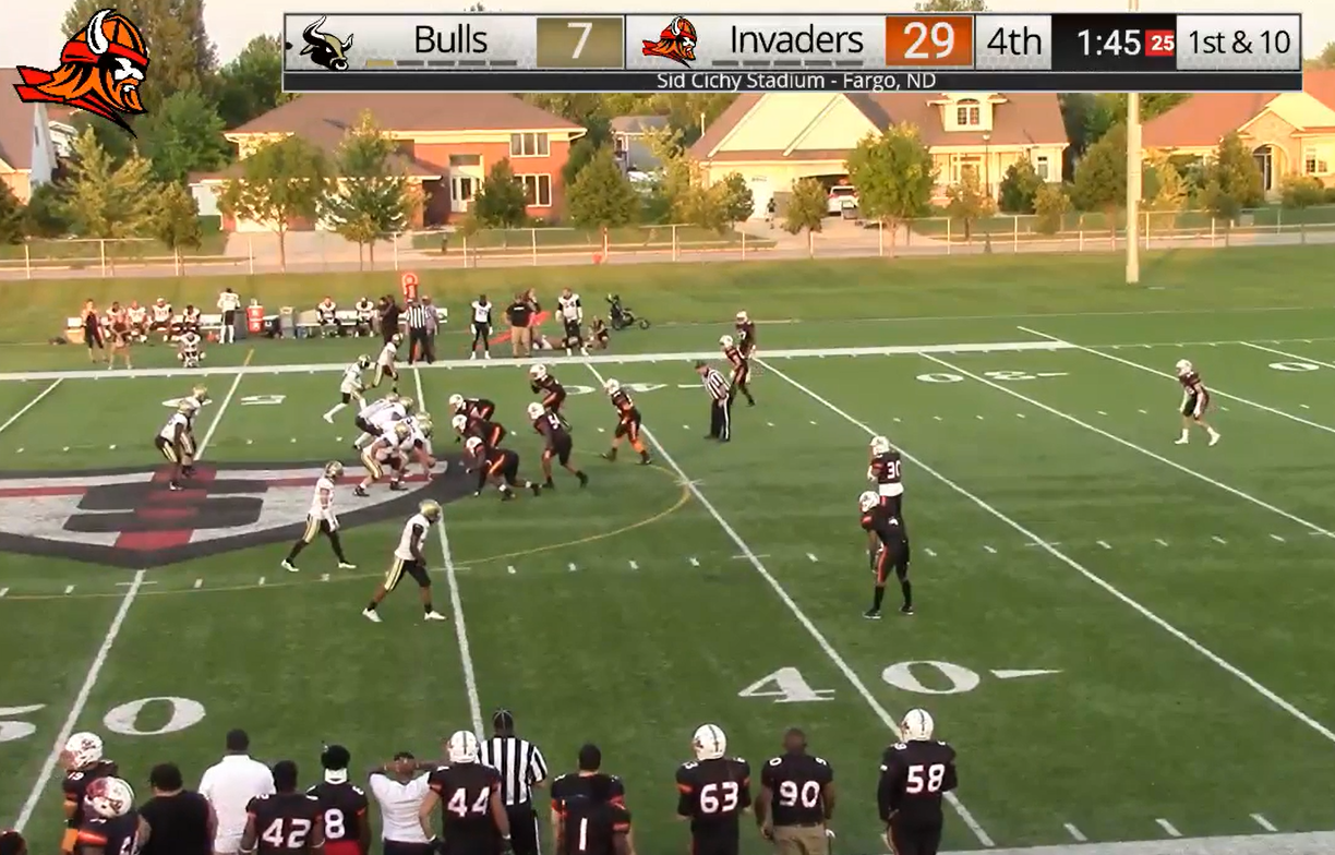 Fargo Invaders Top Northland Bulls 29-7 To Advance In Playoffs