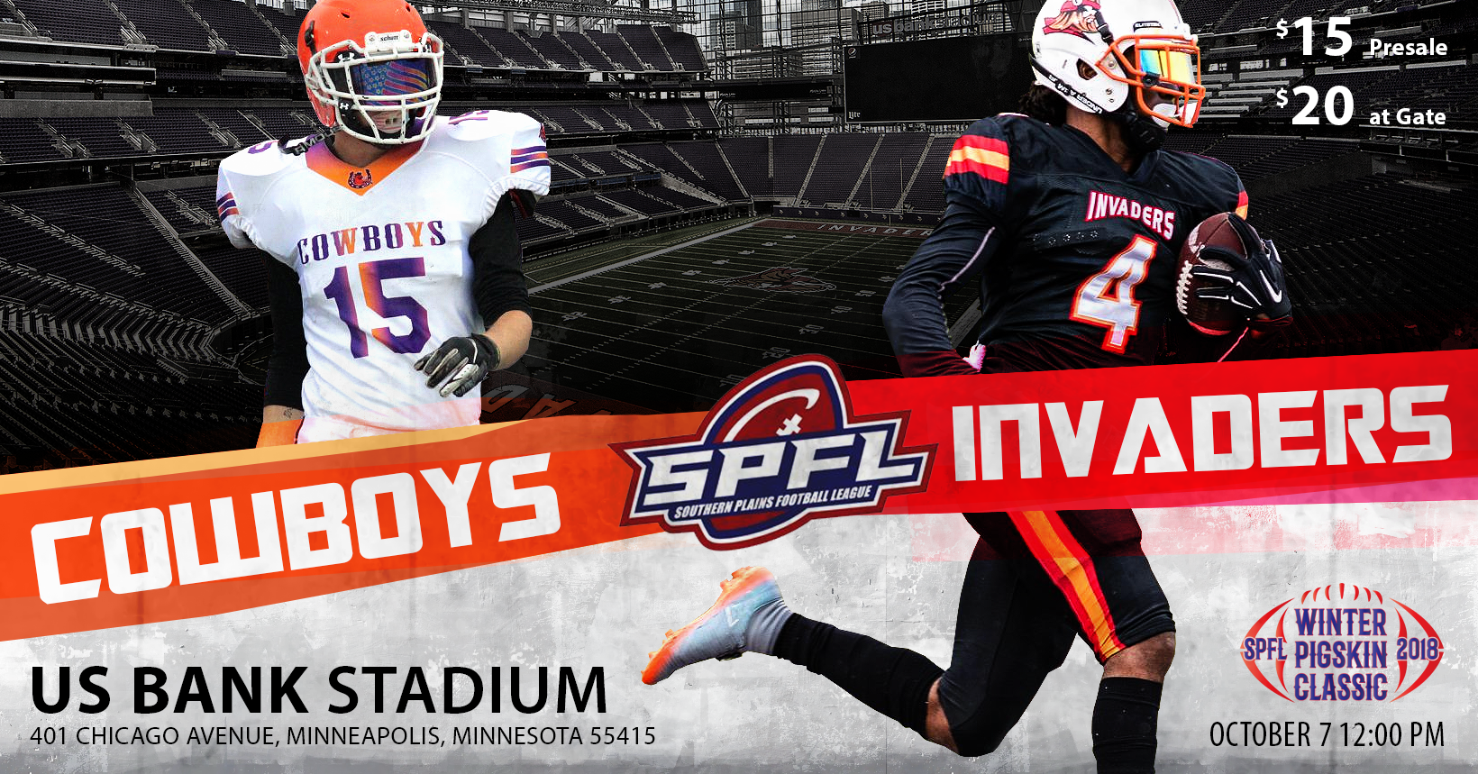 Fargo Invaders Play At US Bank Stadium On Oct 7