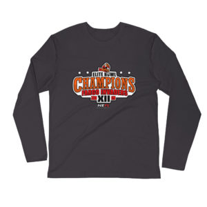CHAMPIONSHIP Long Sleeve Fitted Crew (Black/Charcoal/White)