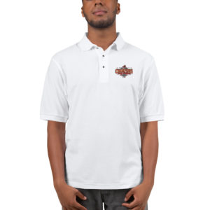 CHAMPIONSHIP Embroidered Polo Shirt (Black/White)
